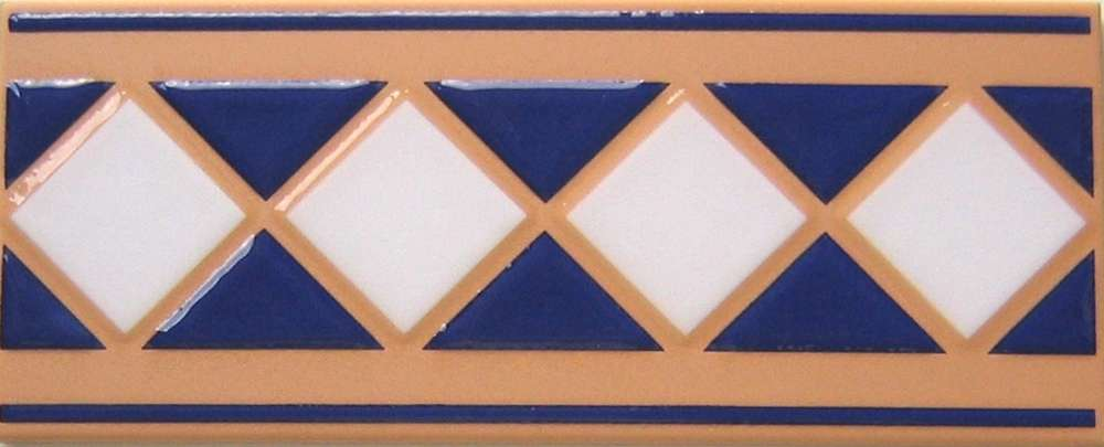 Gut gemocht Bordüren Fliesen blau weiss cotto Villeroy & Boch 10/25 cm TJ16
